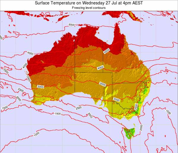 Australia Surface Temperature on Monday 27 May at 4pm EST map
