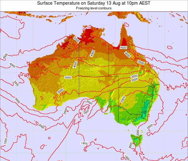 Australia Surface Temperature on Friday 31 May at 10am EST map