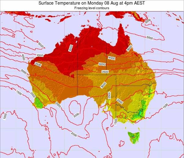 Australia Surface Temperature on Saturday 25 May at 10am EST map