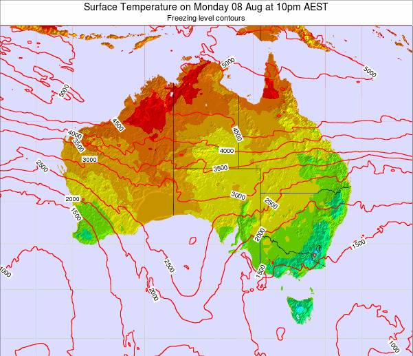 Australia Surface Temperature on Tuesday 21 May at 4am EST map