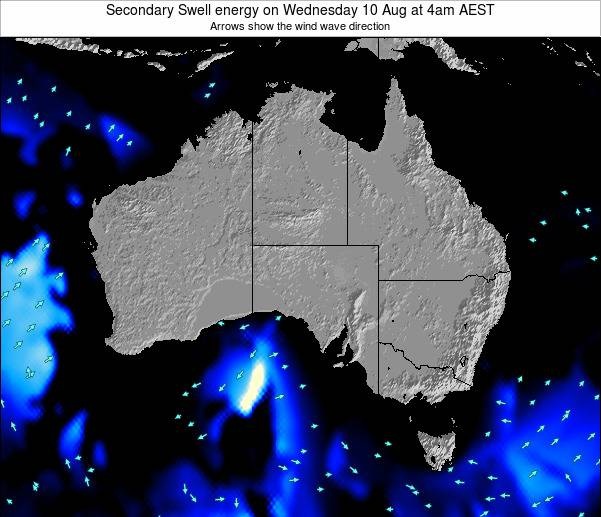 Australia Secondary Swell energy on Thursday 13 Mar at 5pm EST