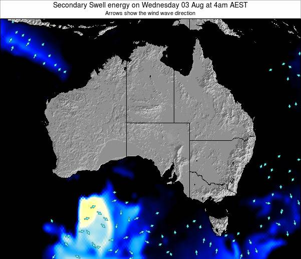 Australia Secondary Swell energy on Sunday 27 Apr at 4am EST