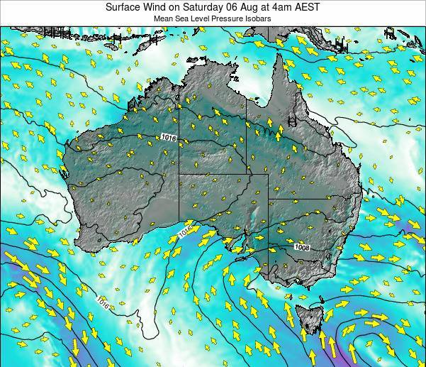 Australia Surface Wind on Friday 26 May at 4am AEST