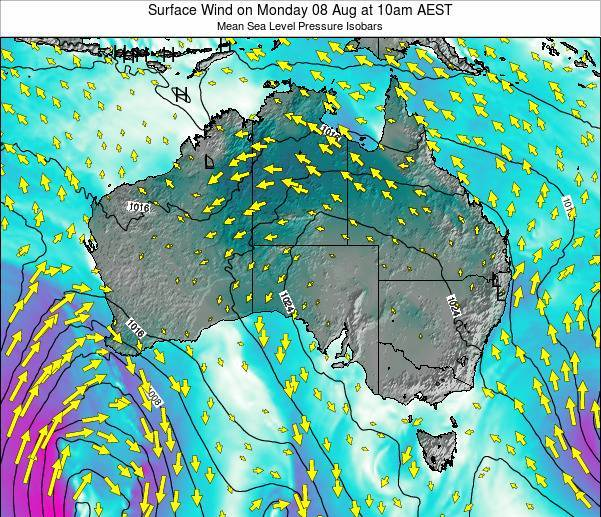Australia Surface Wind on Tuesday 28 May at 4am EST