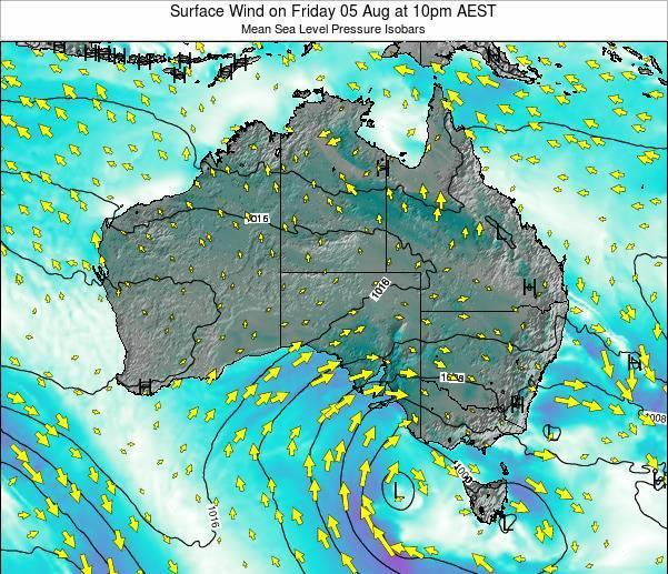 Australia Surface Wind on Sunday 27 Apr at 4pm EST
