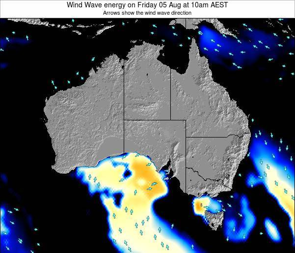 Australia Wind Wave energy on Sunday 19 May at 10pm EST