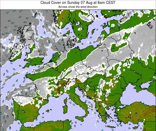 Poland Cloud Cover on Monday 27 May at 2pm CEST map