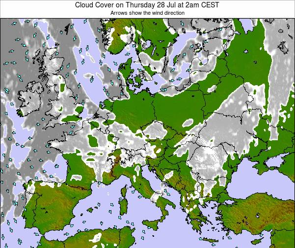 Montenegro Cloud Cover on Thursday 30 May at 2am CEST map