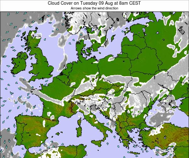 Poland Cloud Cover on Tuesday 28 May at 2pm CEST