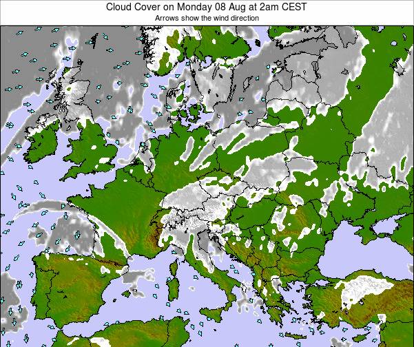 Montenegro Cloud Cover on Saturday 25 May at 8pm CEST map
