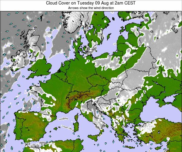 Poland Cloud Cover on Saturday 25 May at 2pm CEST map