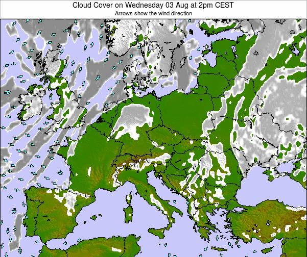 Poland Cloud Cover on Sunday 26 May at 8pm CEST