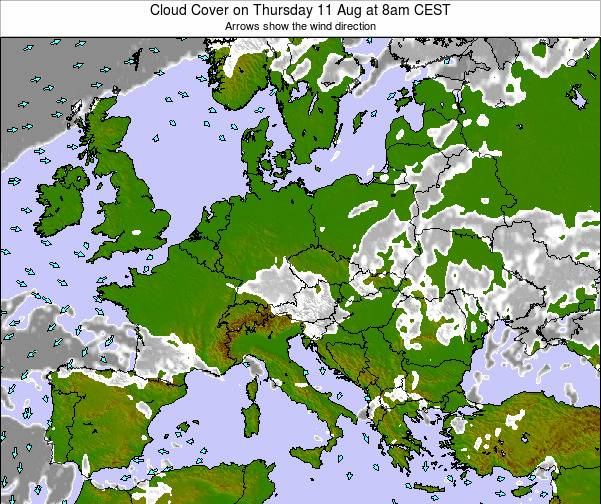 Poland Cloud Cover on Friday 24 May at 8pm CEST map