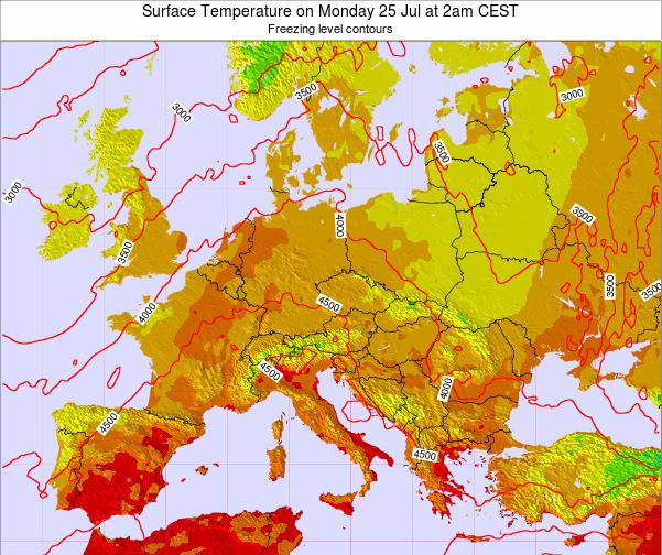 Kosovo Surface Temperature on Sunday 26 May at 2am CEST map