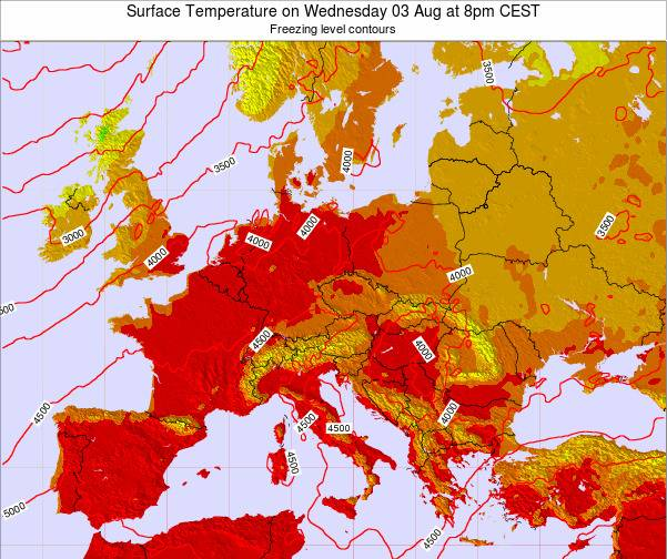Austria Surface Temperature on Friday 24 May at 2pm CEST map