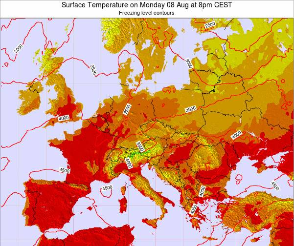 Austria Surface Temperature on Wednesday 29 May at 2am CEST map