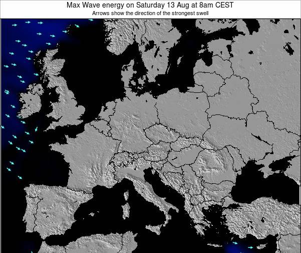 Slovenia Max Wave energy on Tuesday 30 Apr at 8am CEST map
