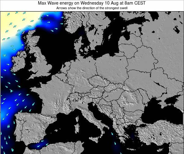 Poland Max Wave energy on Tuesday 11 Mar at 1am CET