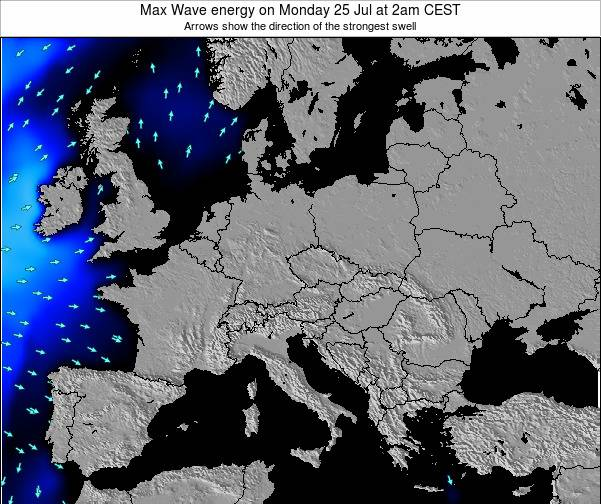 Croatia Max Wave energy on Monday 04 Aug at 2am CEST