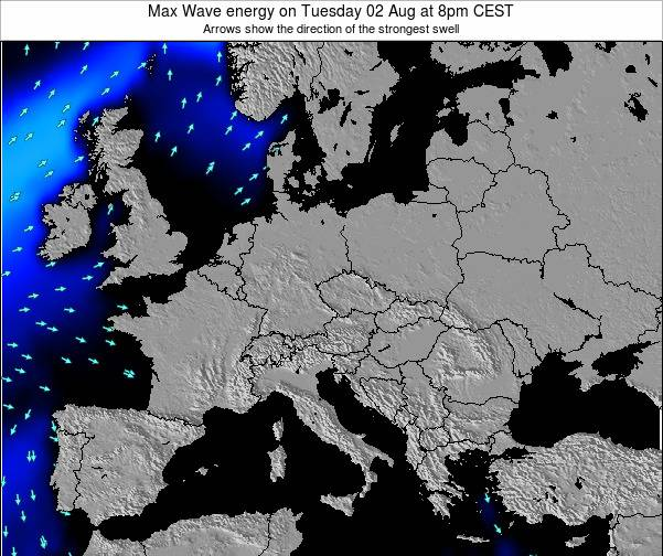 Croatia Max Wave energy on Wednesday 12 Mar at 7pm CET