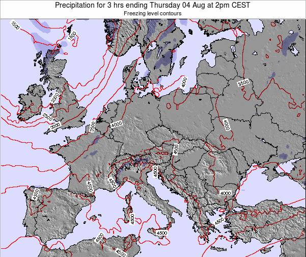 Poland Precipitation for 3 hrs ending Friday 24 May at 2am CEST