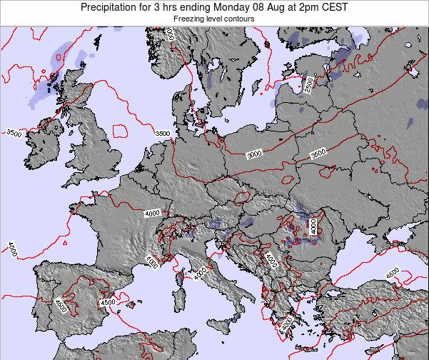 Slovenia Precipitation for 3 hrs ending Saturday 25 May at 8am CEST map