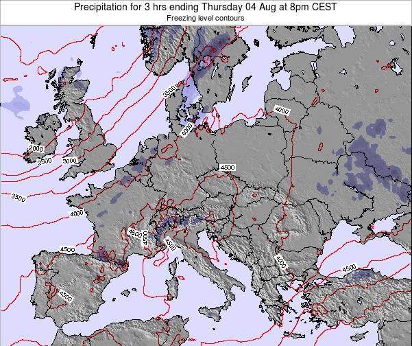 Montenegro Precipitation for 3 hrs ending Monday 20 May at 2pm CEST map