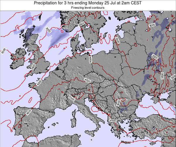 Hungary Precipitation for 3 hrs ending Tuesday 18 Jun at 8am CEST map