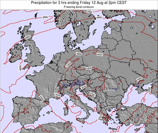 Slovenia Precipitation for 3 hrs ending Monday 27 May at 8pm CEST map