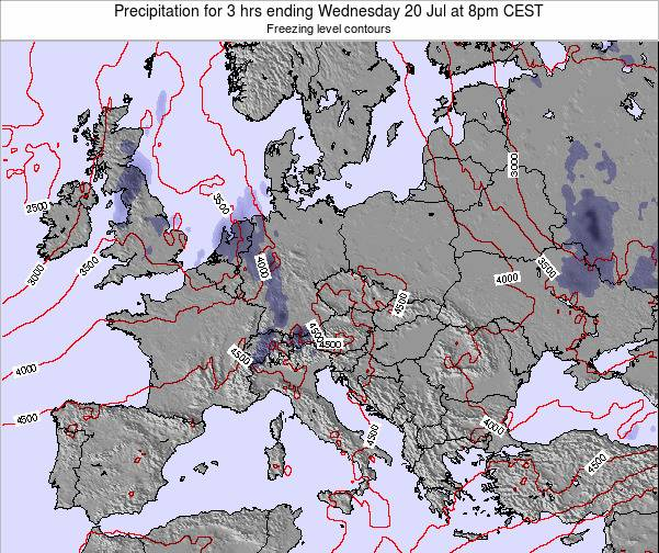 Austria Precipitation for 3 hrs ending Thursday 30 May at 2pm CEST map