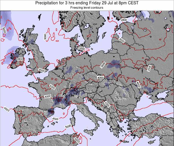 Slovakia Precipitation for 3 hrs ending Tuesday 28 May at 8pm CEST map