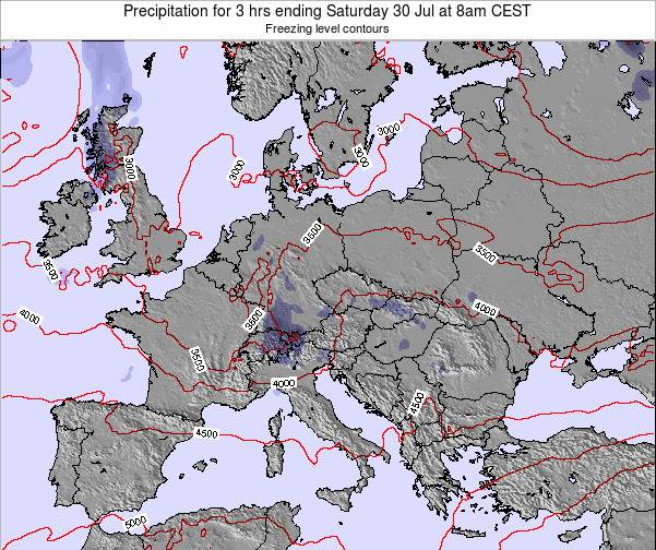 Slovenia Precipitation for 3 hrs ending Sunday 23 Jun at 8pm CEST map