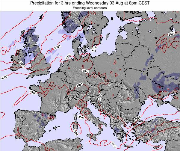 Slovakia Precipitation for 3 hrs ending Sunday 26 May at 8am CEST map