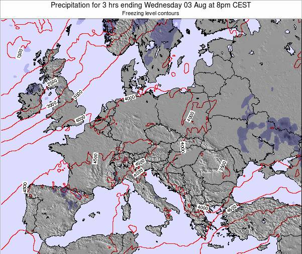 Montenegro Precipitation for 3 hrs ending Saturday 25 May at 2pm CEST map