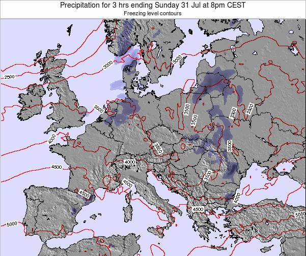 Poland Precipitation for 3 hrs ending Sunday 26 May at 8pm CEST