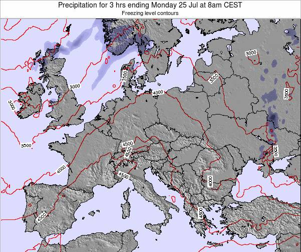 Slovakia Precipitation for 3 hrs ending Monday 27 May at 2am CEST map