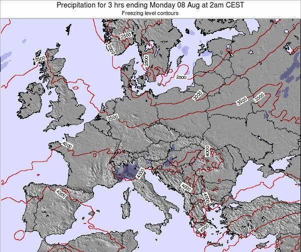 Slovenia Precipitation for 3 hrs ending Saturday 25 May at 2am CEST map