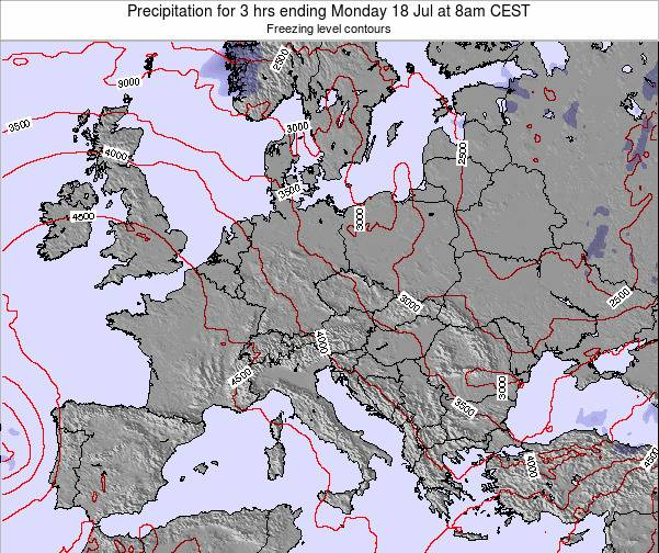 Montenegro Precipitation for 3 hrs ending Friday 24 May at 2am CEST map