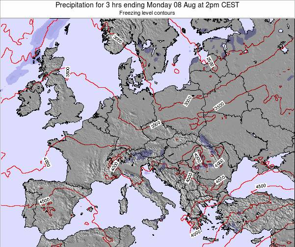 Austria Precipitation for 3 hrs ending Thursday 23 May at 2pm CEST map