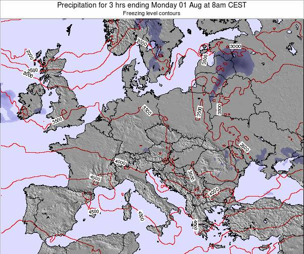 Montenegro Precipitation for 3 hrs ending Saturday 25 May at 8am CEST map