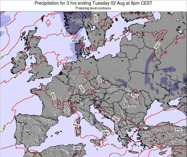Slovenia Precipitation for 3 hrs ending Tuesday 21 May at 8pm CEST map