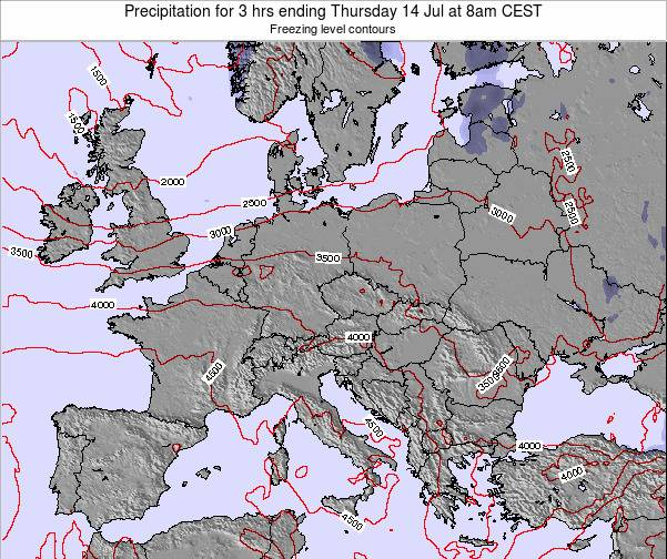 Slovakia Precipitation for 3 hrs ending Sunday 24 Mar at 1am CET map