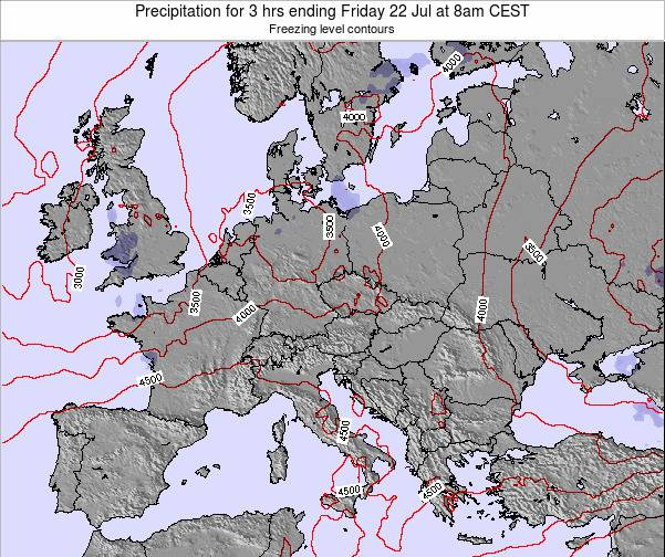 Slovakia Precipitation for 3 hrs ending Wednesday 22 May at 2pm CEST map