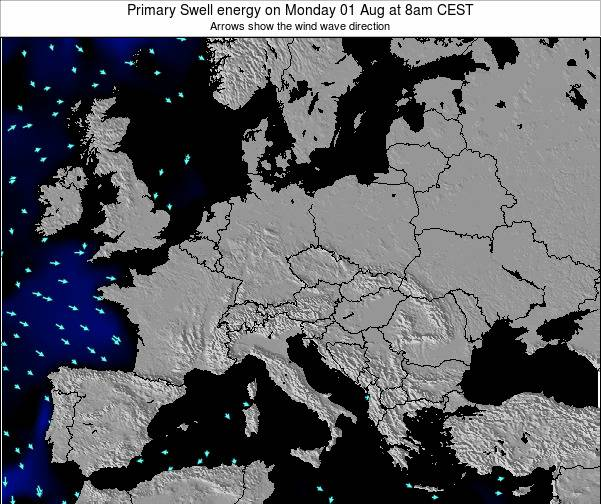 Slovenia Primary Swell energy on Sunday 26 May at 2pm CEST map