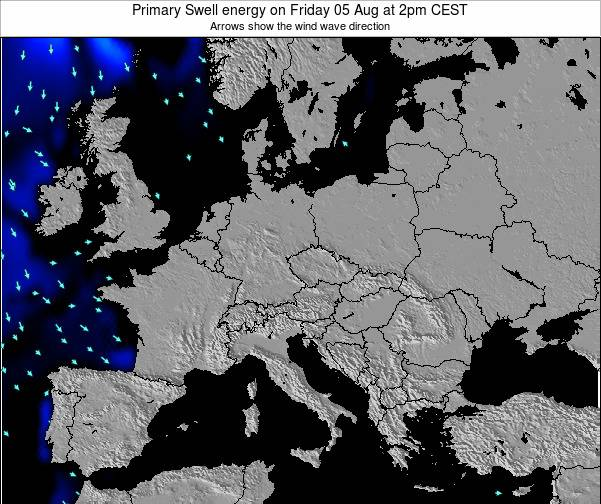 Slovenia Primary Swell energy on Saturday 25 May at 8pm CEST map