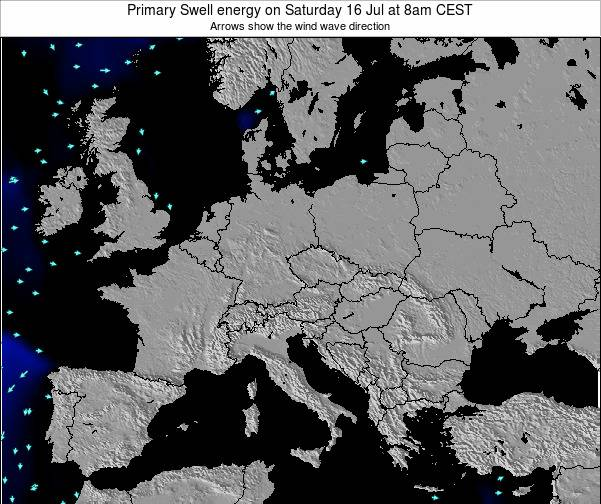 Slovenia Primary Swell energy on Thursday 27 Sep at 2am CEST map