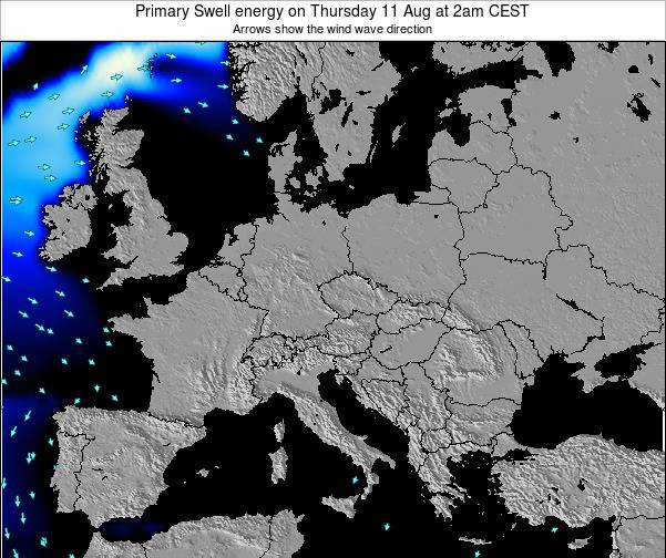 Slovenia Primary Swell energy on Wednesday 25 Apr at 2pm CEST map