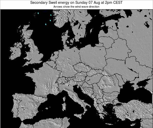 Slovenia Secondary Swell energy on Sunday 21 Jul at 2pm CEST map