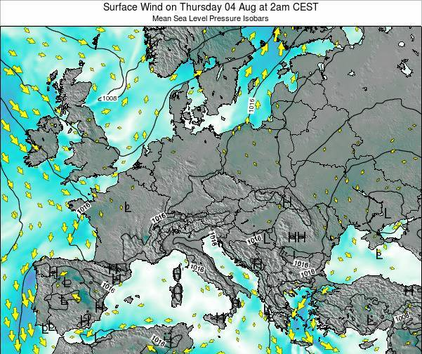 Croatia Surface Wind on Saturday 30 May at 2pm CEST