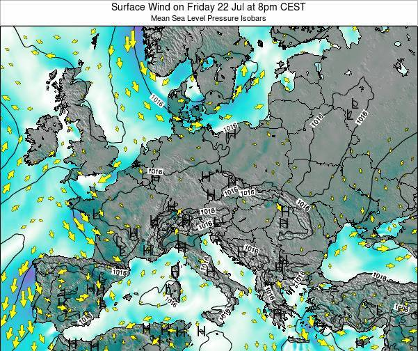 Croatia Surface Wind on Sunday 28 Aug at 2am CEST